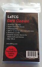100 LaTCG Pokemon/magic The Gathering Size Clear Soft Sleeves/small Deck Sleeve