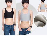 Transgender Breast Binder Korsett Stärken flache Brust kurze Cosplay WesteF Y9J8