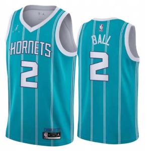 NWT #2 LaMelo Ball 2020-21 Charlotte Hornets Men's Embroidered Swingman Jersey