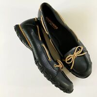 Sketchers Womens Slip On Comfort Loafers Shoes Size 7 Black