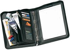 Cartella porta documenti 12 scomparti 4 anelli compreso scomparto carte credito