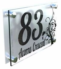 Numbers Flowers Contemporary Decorative Plaques & Signs