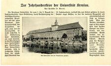 Prof. Dr. Wendt Universität Breslau Zur Jahrhundertfeier Ferdinand Cohn...v.1911