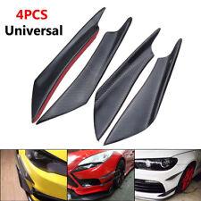 4PCS Carbon Fiber Color Car Front Bumper Splitter Fins Body Spoiler Canards ABS