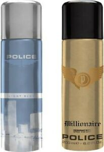 POLICE Light Blue Millionaire Deodorant Spray - For Men  (400 ml, Pack of 2)