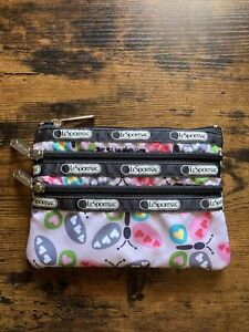 LeSportsac Make up bag pink with butterflies
