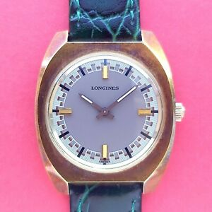 Longines Vintage watch with beautiful dial and case patina mens Swiss 2