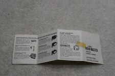 Vintage View-Master Lighted Stereo Viewer Operating Instructions, Sawyers