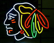 "Chicago Blackhawks Stanley Cup Hockey NHL Handmade Neon Light Sign 19""x15"""