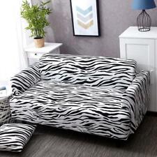 Black/White Zebra Print Sofa Couch Cover Slipcover Spandex Sofa Protector 4 Size