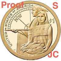 2014 S Proof Sacagawea Lewis &Clark Native American Hospitality Sacagewea Dollar