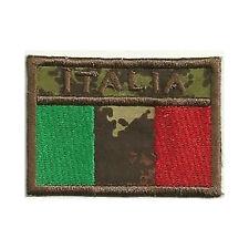 [Patch] BANDIERA ITALIANA mimetica militare cm 7 x 5 toppa ricamata ITALY -283