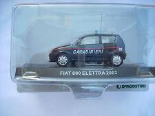 FIAT 600 ELETTRA 2003 SCALA 143 carabinieri blister ingiallito