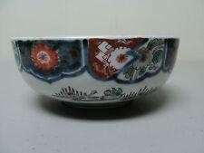 Unusual 19th C. Antique Japanese Imari Bowl, Bridge with Water & Oxen Decoration