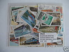 *** TIMBRES TRAINS ELECTRIQUES: 50 TIMBRES TOUS DIFFERENTS / TRAINS STAMPS  ****