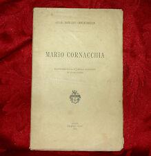 Filologia - Mario Cornacchia di Giulia Cavallari Cantalamessa 1892 Autografato