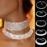 Lady' Dress Diamond Sexy Crystal Rhinestone Choker Necklace Wedding Accessories