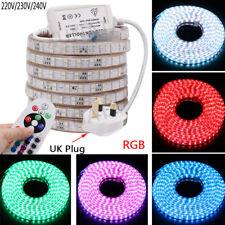 LED Strip AC 220V 230V  RGB  Waterproof 5050 SMD 120leds/m Commercial Rope Light