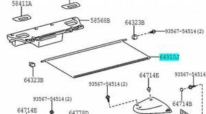 TOYOTA 64910-14060-C0 Tonneau Cover ASSY Black Genuine Car Parts SUPRA
