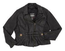 PRO RIDER Leather Motorcycle Jacket XXL Womens Braided Biker Coat Moto Jacket