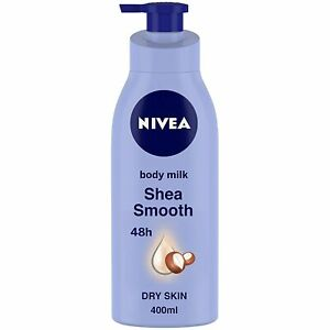 Nivea Smooth Shea Milk Body Lotion For Dry Skin, 400ML- Free Shipping Worldwide