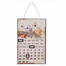 Deko Pappkalender Ewiger Kalender Pappe Wandkalender Jahreskalender Nostalgie