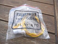 FALLER H0 N TT Z éclairage bâtiments Douille 16 V  0,05A avec Ampoule NEUF