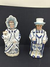 Pair Antique  Porcelain Nodding Figurines