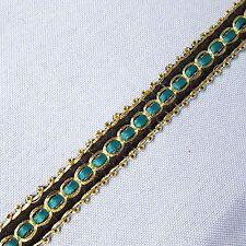 Gold Teal Black Gimp Braid Trim Tape Upholstery Costume Embellishment TR0061