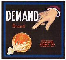*Original* SILVER TIP Strathmore Calif Brown Bear Grape Crate Label NOT A COPY!