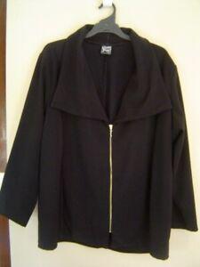 Quality Sue LIKE NEW!! SMART SOFT BLACK l/sl JACKET Plus size 4XL/26