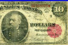 1891 $10 Treasury Note (( Red Seal )) Beautiful Grade # B2783975*.