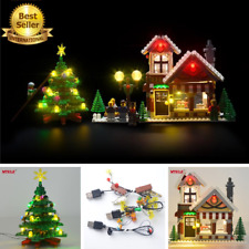 USB LED Light Set Fit To LEGO Block Winter Toy Shop set 10249 Christmas Gift