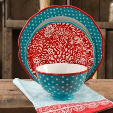 The Pioneer Woman Traveling Vines 12-Piece Dinnerware Set