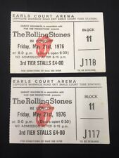 THE ROLLING STONES 2 TICKETS EARLS COURT Friday 21st May 1976