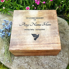 Wooden Funeral Cremation Urn Ashes Box Human Ashes Personalised Lasered Wood