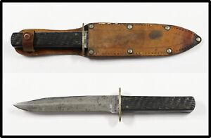 Vintage RARE 1930-1940 KA-BAR UNION CUTLERY OLEAN NY hunting Bowie knife RARE