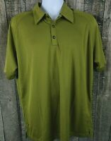 OGIO Mens Golf Polo Shirt Size Large Green Polyester Short Sleeve Unique