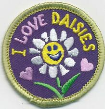 Girl I LOVE DAISIES FUN flower Fun Patches Crests Badges SCOUTS GUIDE daisy