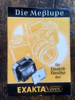 Exakta Varex - Die Meßlupe -  Text.deutsch - Classic-Camera-STORE