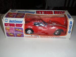 Vintage 1968 ELDON Touch Command Red Corvette Stingray D battery & Air Car 9840