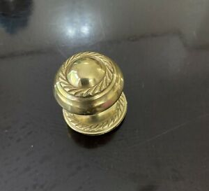 6 x BRASS DOOR KNOBS +Bolts Drawer Cabinet Pull Handle GEORGIAN Style