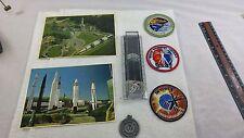 7 piece Vintage Nasa Memoribilia W/Skylab Patches,Postcards,Viking Pendant,Ruler