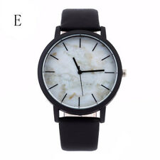 Popular Men Casual Stainless Steel Quartz Analog Leather Band Dial Wrist Watches