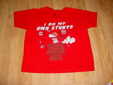 Girls Boys-Snoopy Joe Cool Charlie Brown Stunts Movie Actor TV Show Shirt-Top-4T