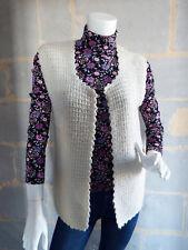 Gilet sans manche laine style bohème Vintage véritable Taille M à L