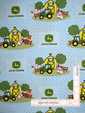 John Deere Baby Barn Yard Scenic Nursery Cotton Fabric CP46792 Springs - Yard