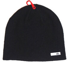 MENS QUIKSILVER BEANIE HAT BLACK CAP ONE SIZE