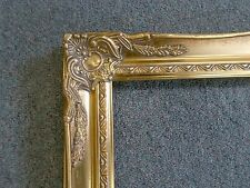 Picture Frame-Vintage Bright & Dk Gold Antique Ornate Classic Baroque-678G 12x16