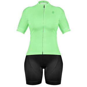 Zol Cycling  Women Breathable Race Fit Jersey With Bib